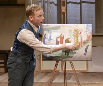 Dan Waller as miner-turned-artist in &quot;The Pitmen Painters&quot; at TimeLine Theatre (Lara Goetsch)