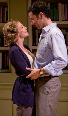 Carrie Coon and Sean Fortunato in &quot;The Real Thing&quot; by Tom Stoppard at Writers' Theatre in Glencoe, IL.
