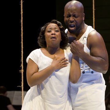 Alexis J. Rogers and James Earl Jones II in Gershwin's Porgy and Bess at Court Theatre credit Michael Brosilow