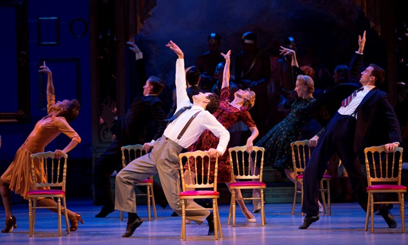 Christopher Wheeldon's choreography for 'An American in Paris' ranges from soft-shoe to kick-line to classical ballet. (Angela Sterling)